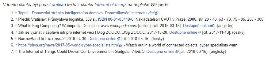 Zdroje webových stránek Wikipedie