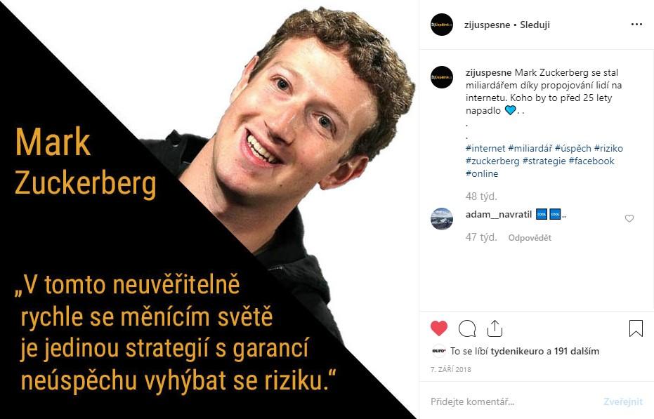 Studenská půjčka - Mark Zuckerberg