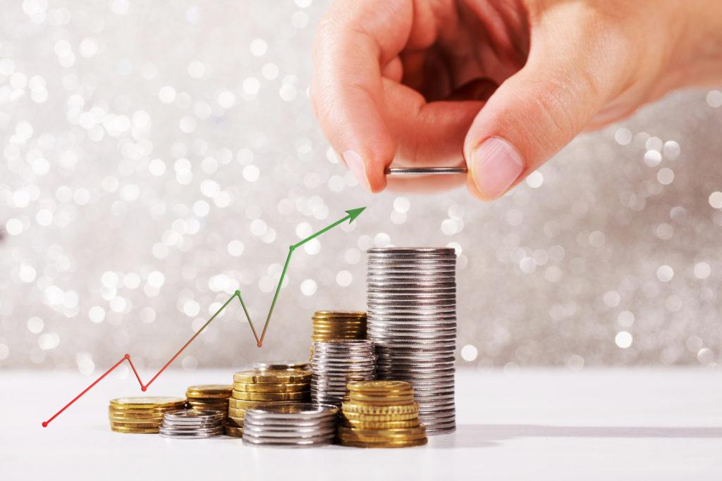 Peníze a růst na spořicím účtu