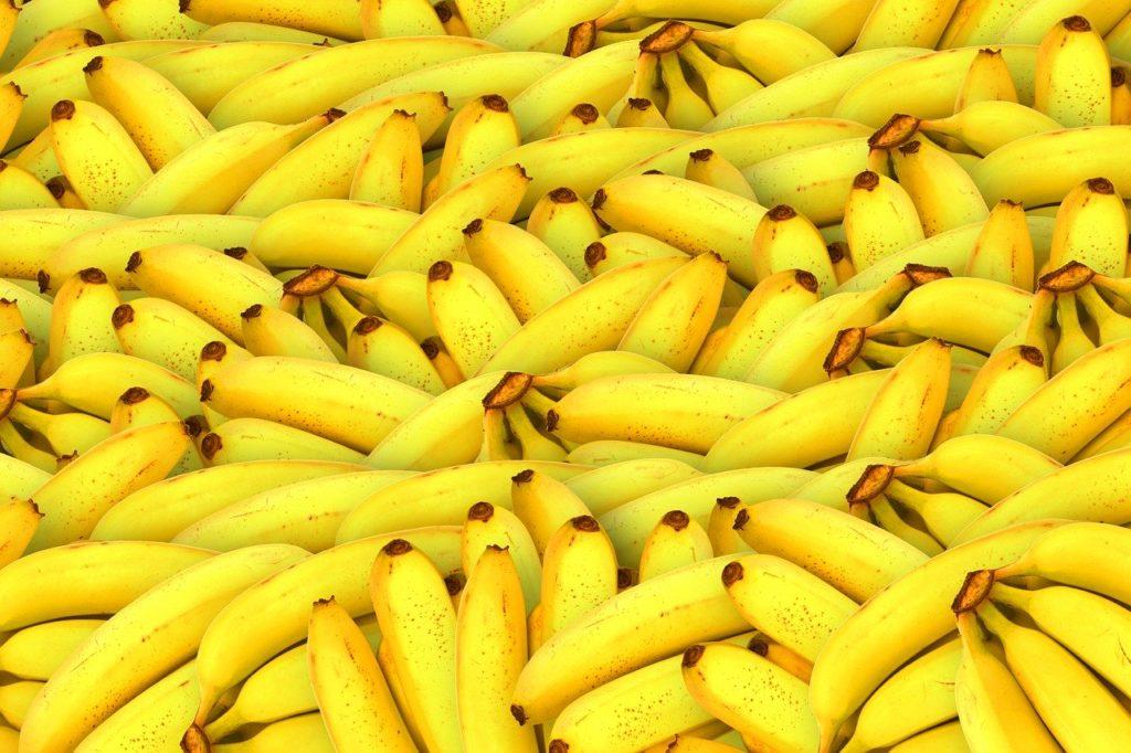 Banány hořčík a draslík