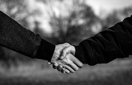 podání ruky první dojem