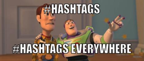 Meme obrázek hashtag