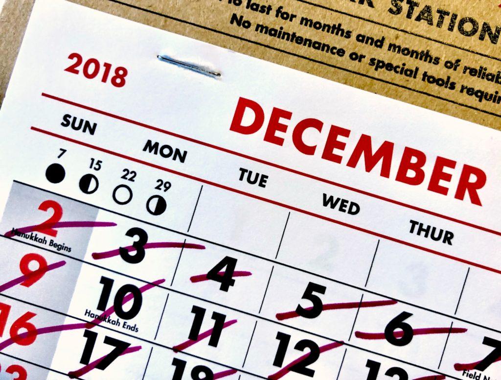 Kalendář odškrtáno