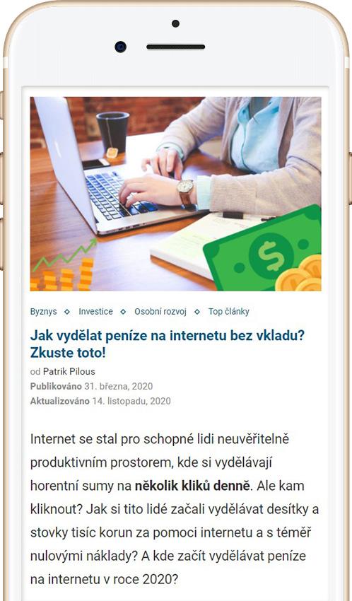 Jak vydělat peníze přes internet článek