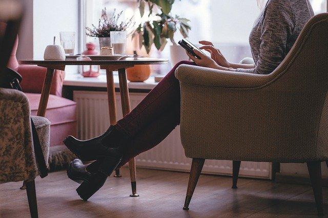 Pohodlí v kavárně