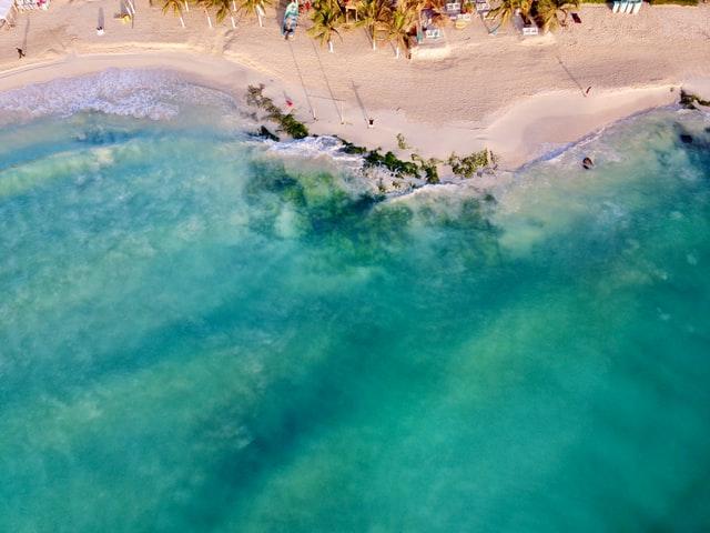 Karibské moře v Playa del Carmen