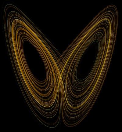 Lorenzova křivka je základním stavebním kamenem teorie chaosu.