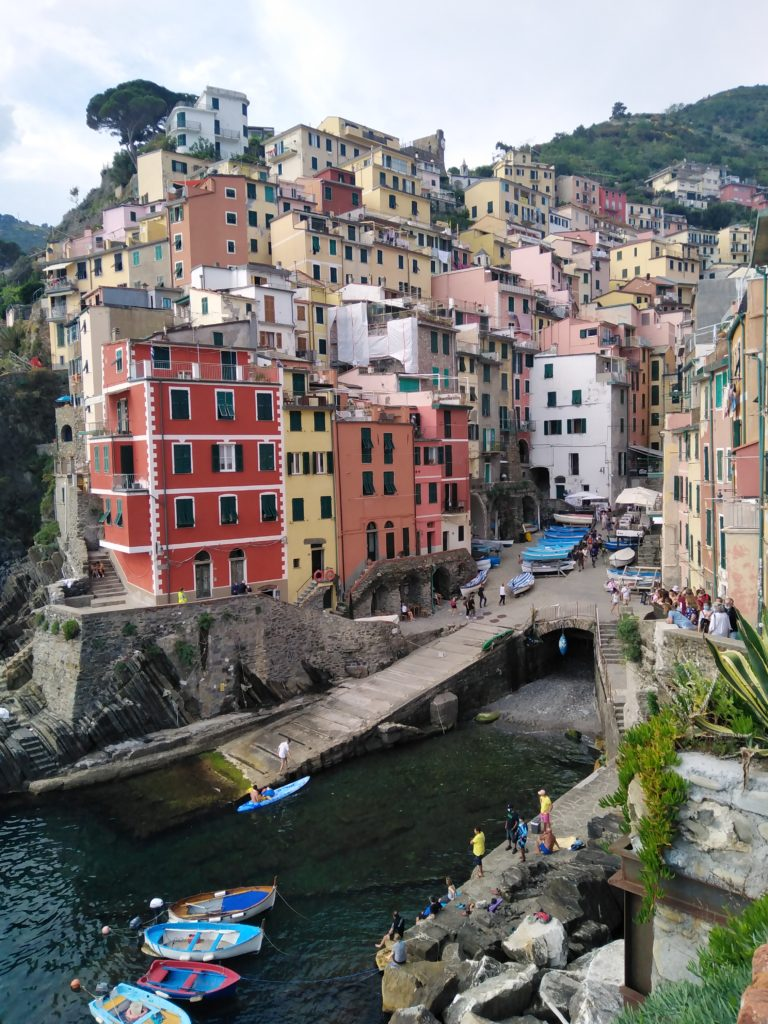 Cinque Terre - město Riomaggiore