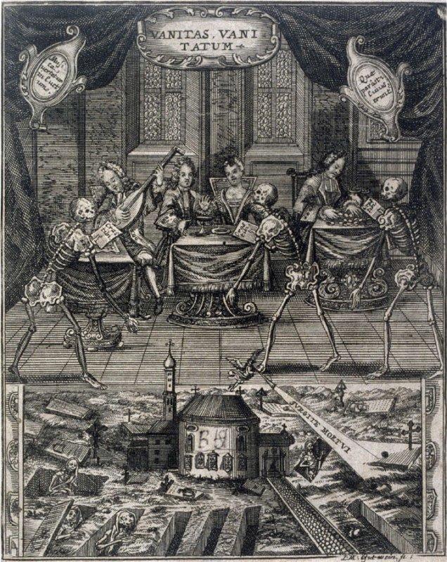Vanitas je morální alegorií o pošetilosti lidské marnosti.