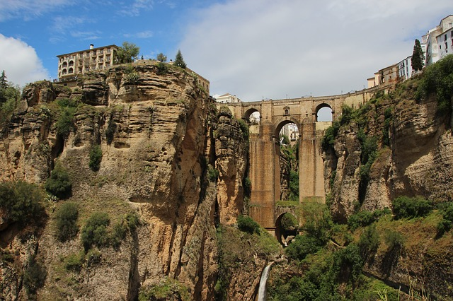Město Ronda v Andalusii